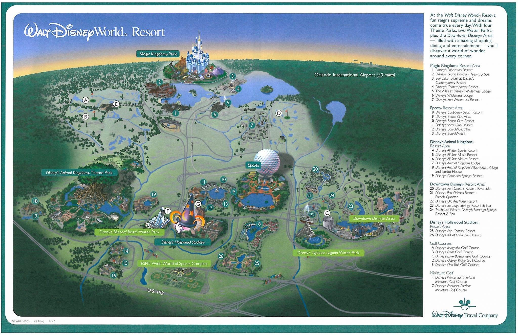 Walt Disney World Resort Map | Enchanted Honeymoons