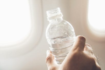 Drink water to avoid jet lag
