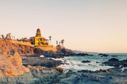 resort on rocky ocean front