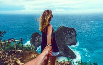 woman overlooking ocean in St. Lucia