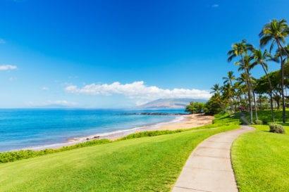 Beach-side path in Maui
