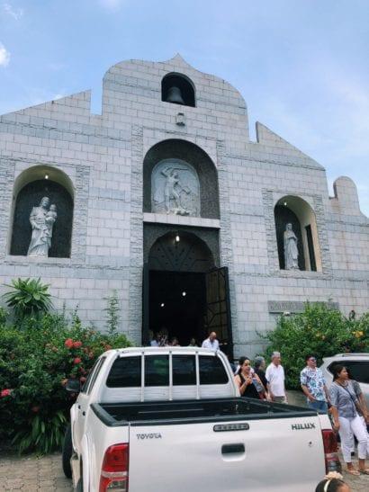 Costa Rica white church