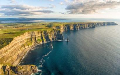 Ocean cliffs in Ireland