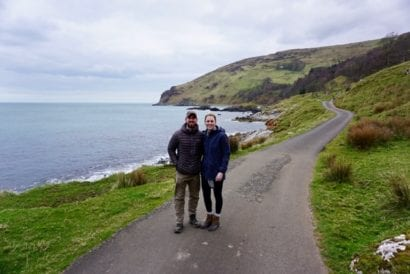 Couple visiting Game of Thrones filming location in Ireland
