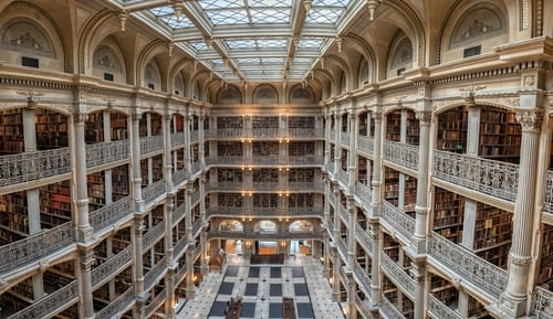 library 1 george peabody