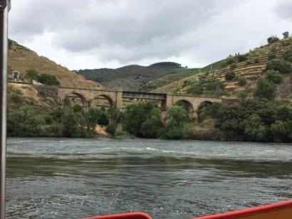 Railroad bridge crossing Portugal river