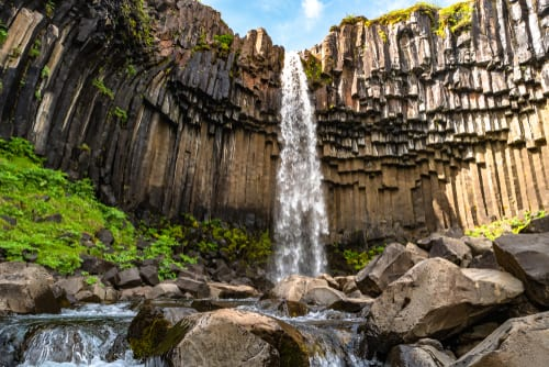 Svartifoss (Black Falls), Iceland waterfalls