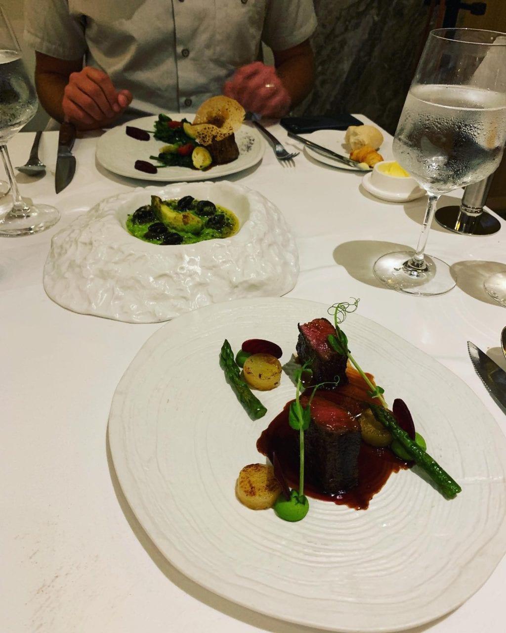 Lamb, Escargot Risotto, Petite Filet