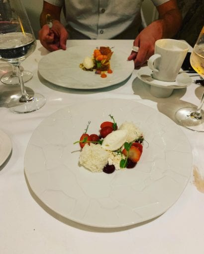 Yogurt, Berries & Caramelized Tomato Dessert