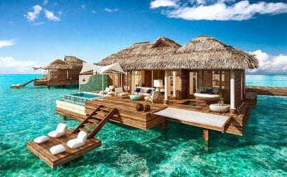 sandals royal carib overwater bungalows