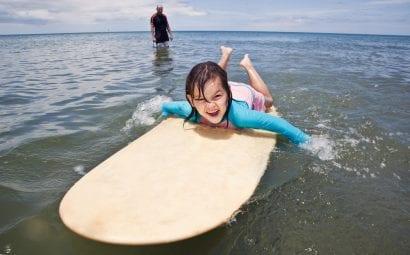 beach vacation surfing