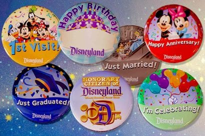 disney world celebration buttons