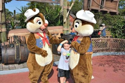 meeting Disney World characters